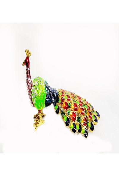 Klc Kapalı Kanatlı Taşlı Tavus Kuşu
