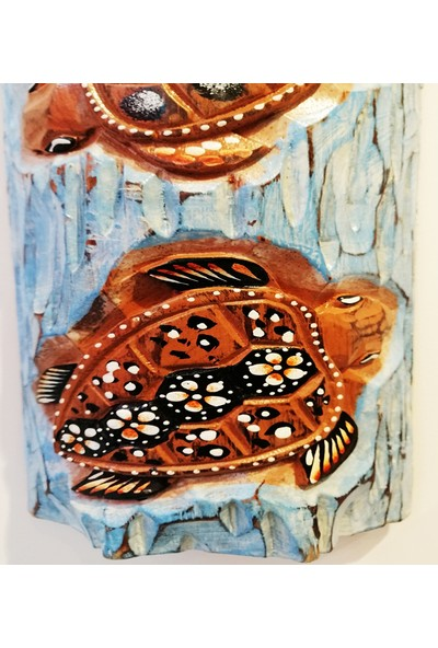 Klc Kütük Kaplumbağa Duvar Süsü