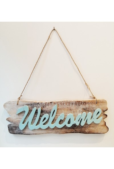 Klc Ahşap Welcome Kapı Süsü