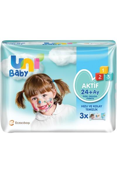 Uni Baby Aktif Islak Mendil 3'lü 156 Yaprak