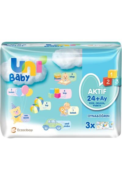Uni Baby Aktif Oyna Öğren 3'lü Islak Mendil 156 Yaprak