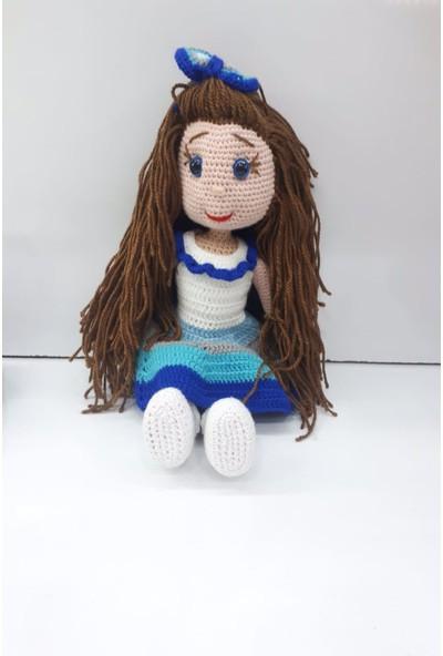 Hayat 5149 Amigurumi 36 cm Mavi Karnaval Elbiseli Örme Bebek