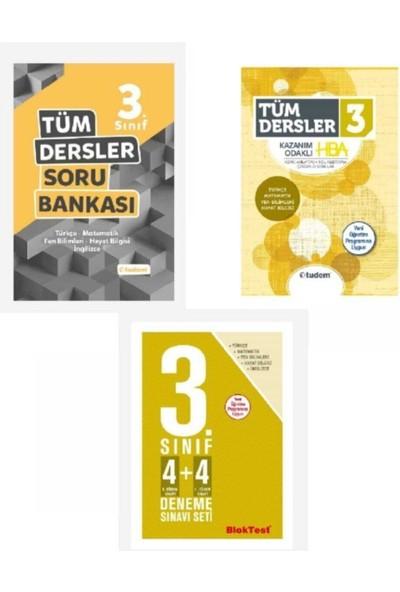 Tudem Yayınları Tudem 3. Sınıf Tüm Dersler Soru Bankası+Konu Anlatım+4x4 Deneme Testi