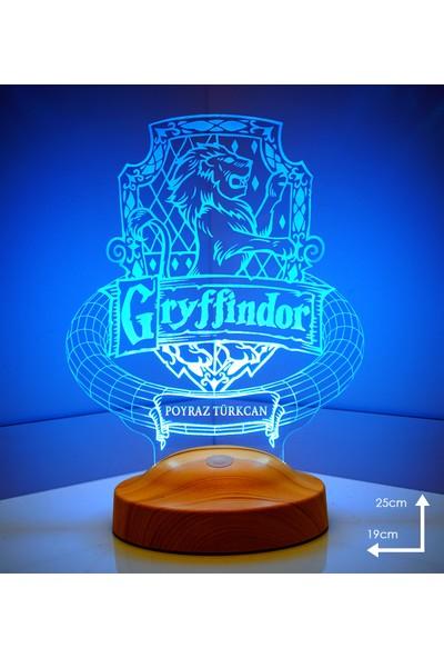 Sevgi Lambası Harry Potter Hogwarts Binası Gryffindor Kişiye Özel LED Lamba