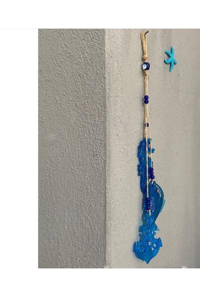 Bimbambom Dekoratif Duvar Süsü Denizatı Balık Çapa Seti