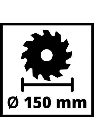 Einhell Te-Cs 18/150 Li Daire Testere + 3 Ah Plus Starter Kit