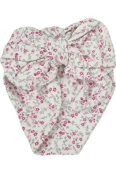 Kayra Baby Kız Bebek Desenli Fiyonk Bone Minik Çiçek
