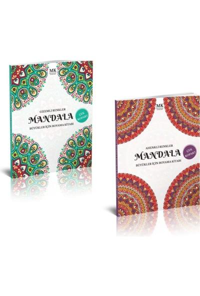 Mandala Boyama Gizemli ve Ahenkli Renkler Yetişkinler Için Boyama Kitabı