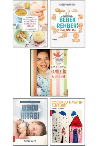Bebeğimin Beslenme Kitabı + Bebek Rehberi Ilk Bir Yıl + Hamilelik ve Doğum + Çocuklu Hayatın Ilkeleri + Uyku Kitabı - 5 Kitap Set Bebek Gelişimi Bakımı