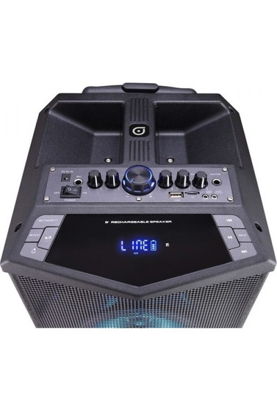 Oyility Dk-8i Karaoke Mikrofonlu Taşınabilir Ses Sistemi 200W