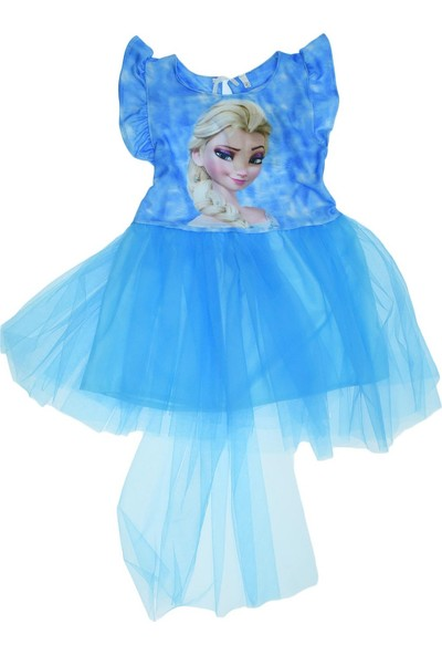 Denito Ana Kuzusu Denito Kız Çocuk Karakter Baskılı Tütülü Elbise