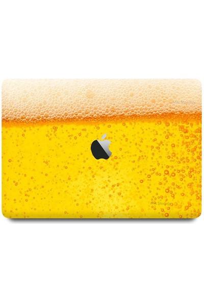 """Mcstorey MacBook Air Kılıf 13"""" Hardcase A1369 A1466 Uyumlu Koruyucu Kılıf Fizzy Sarı"""