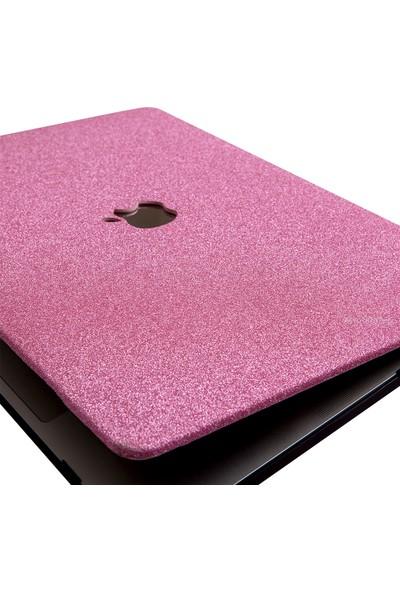 "Mcstorey MacBook Air Kılıf 13"" Hardcase Touch Id A1932 A2179 A2337 Uyumlu Koruyucu Kılıf G1505 Açık Pembe"