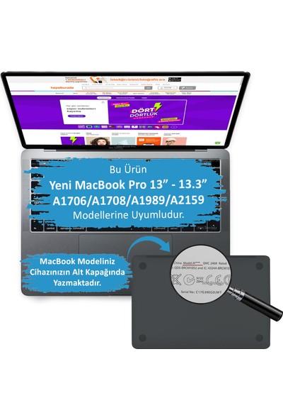 "Mcstorey MacBook Pro 13"" Touchpad Trackpad Koruyucu Stiker Guard A1708 A1706 A1989 A2159 Gri"
