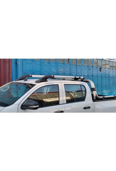 Toyota Hilux (2004-2015) Ara Atkısız Tavan Çıtası - Silver
