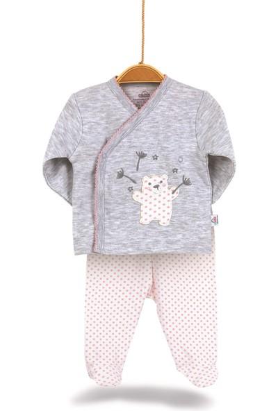 Bimini Pretty Teddy Kız Bebek %100 Pamuk Hastane Çıkışı 5li Set