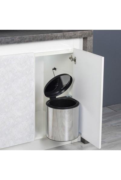 Cekinox Dolap Içi Çöp Kovası (Dolaba Montajlı Kapakla Birlikte Açılır Çöp Kovası) Standart 11 Litre