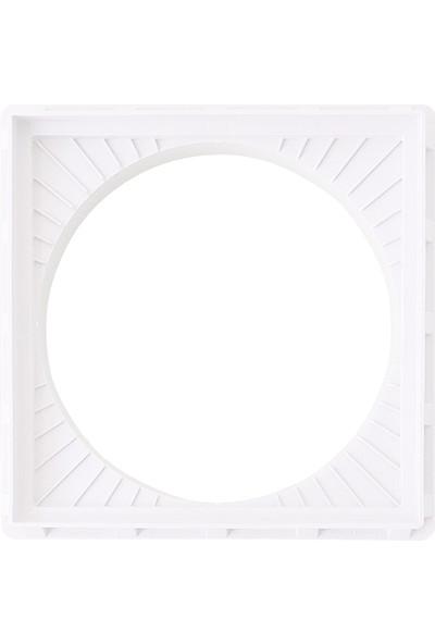 Luxwares Ø 300 mm Koruge Boru Uyumlu Plastik Rögar Menhol Çerçevesi