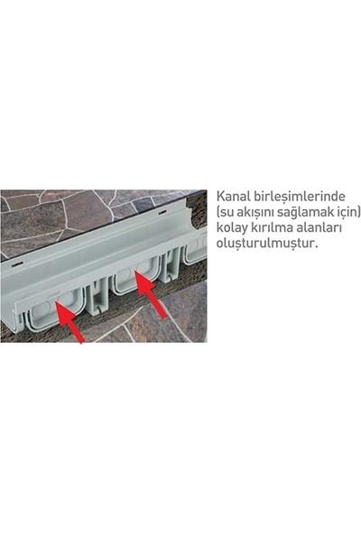Luxwares 80X65X1000 Drenaj Kanalı Izgaralı