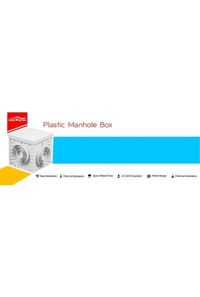 Luxwares 30X30 Süzgeç Kapaklı Plastik Rögar (Menhol) Kutusu