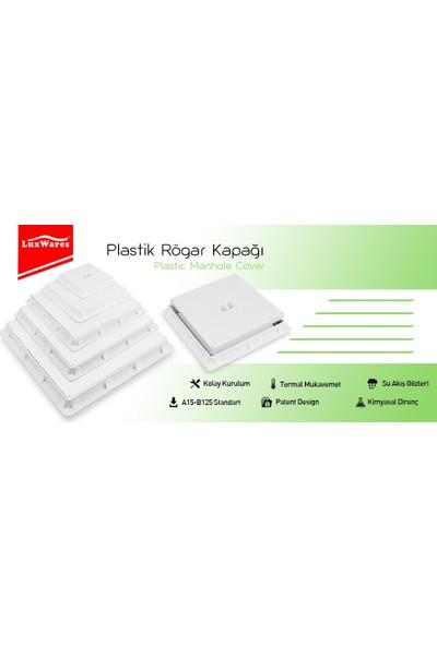 Luxwares 55X55 Plastik Rögar Menhol Kapak ve Çerçeve
