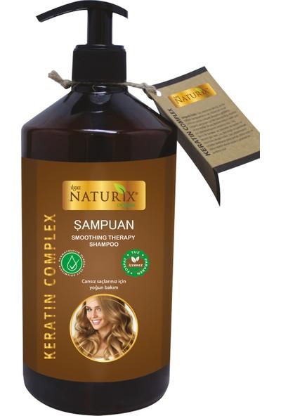 Naturix Bitkisel Onarıcı Keratin Şampuan 2 Adet 600 ml Keratin Şampuan + 500 ml Keratin Saç Kremi