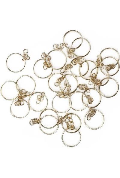 Mir Plastik Zincirli Anahtarlık 5 cm 25 Adet | Altın