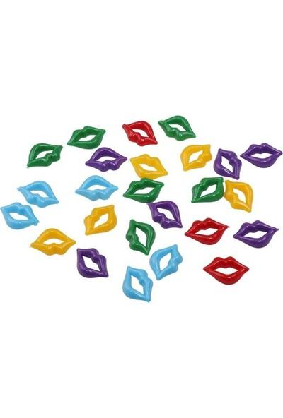 Mir Plastik Amigurumi Dudak 2 cm 25 Adet | Karışık Renk