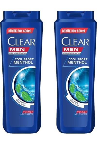 Clear Men Şampuan Cool Sport Mentollü 600 ml x 2