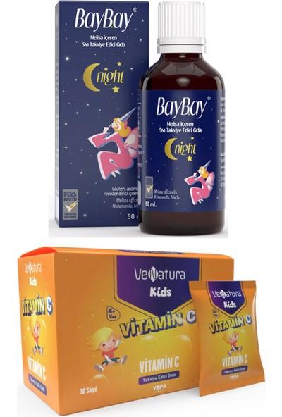 Çocuklar Için Set - Baybay Night Damla 50 ml + Venatura C Vitamini 30 Saşe