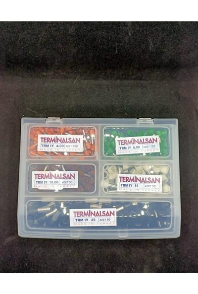 Ukron 550 Parça Büyük Boy Yüksük Seti - 4-6-10-16-25 mm Kablo Ucu Pabuç