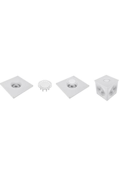 Luxwares 40X40 Süzgeçli Plastik Rögar Menhol Kapak Çerçevesiz