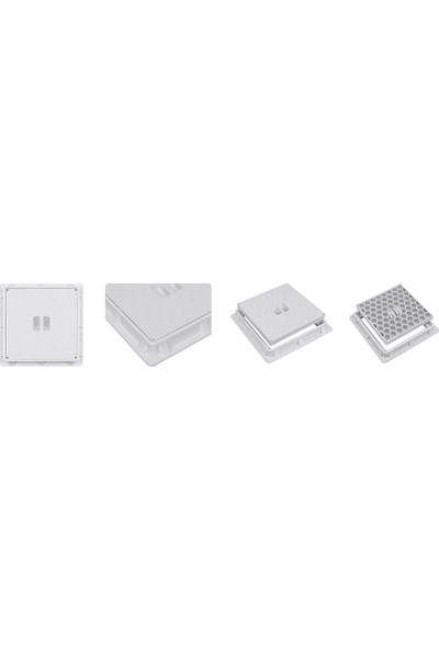 Luxwares 30X30 Düz Plastik Rögar Menhol Kapak Çerçevesiz