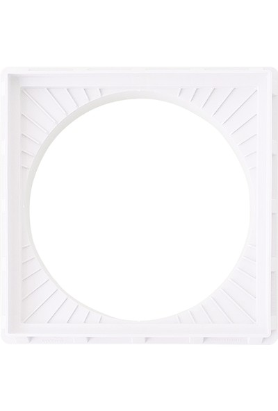 Luxwares Ø 500 mm Koruge Boru Uyumlu Plastik Rögar Menhol Çerçevesi