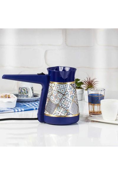 Herevin Çini Desenli Elektrikli Cezve Kahve Makinesi