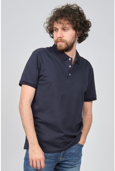 Qwerty Erkek Polo Yaka T-Shirt 54522437 Lacivert