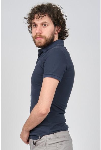 Qwerty Erkek Slim Fit Polo Yaka T-Shirt 5451653 Lacivert