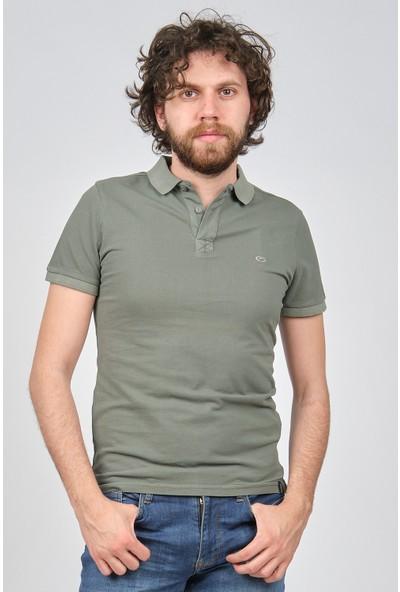 Qwerty Erkek Slim Fit Polo Yaka T-Shirt 5451653 Haki