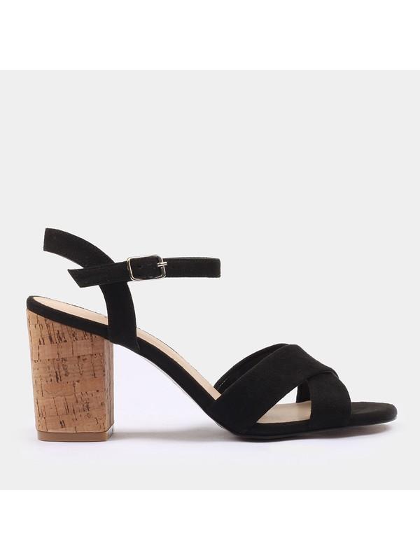Hotiç 01SAH175150A100 Siyah Kadın Sandalet