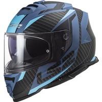 Ls2 Storm Racer Mavi-Kırmızı Kask