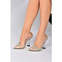 Ten Şeffaf Taşlı Kadın Topuklu Ayakkabı K752715223
