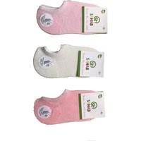 Sahab 12 Çift Dikişsiz Kız Çocuk Bambu Babet Çorap