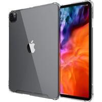 Fujimax Apple iPad Pro 12.9 2021 M1 Çiplı A2379 A2461 A2462 Seri Köşeler Darbe Emici Gard Silikon Kılıf +Kalem Şeffaf