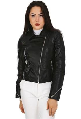 Dinamo Leather Kadın Gerçek Deri Ceket - DB-1294 - 20007 Dl1