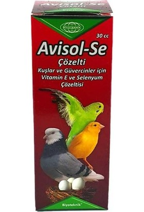 Biyo-Teknik Muhabbet Kuşu E - H Vitamini ve Selenyum Avisol - Se