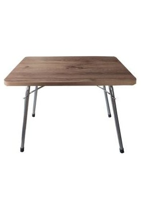 Marketonya 45X60 Çam Katlanır Masa + 3 Adet Lacivert Kamp Sandalyesi Katlanır Sandalye Piknik Plaj Sandalyesi