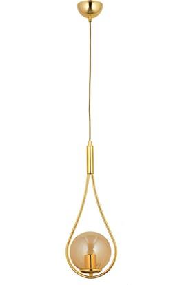 Lightica Nisan Tekli Gold Bal Sarkıt Avize