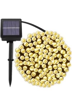 Welpur Güneş Enerjili 100 LED 12 M Dize Süs Lambaları Su Geçirmez Dış Mekan Bahçe Aydınlatma