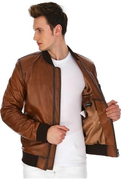 Dinamo Leather Erkek Gerçek Deri Ceket DE-1561 - 20156 Dl1