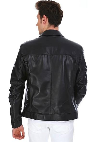Dinamo Leather Erkek Gerçek Deri Ceket DE-962 - 20024 Dl1